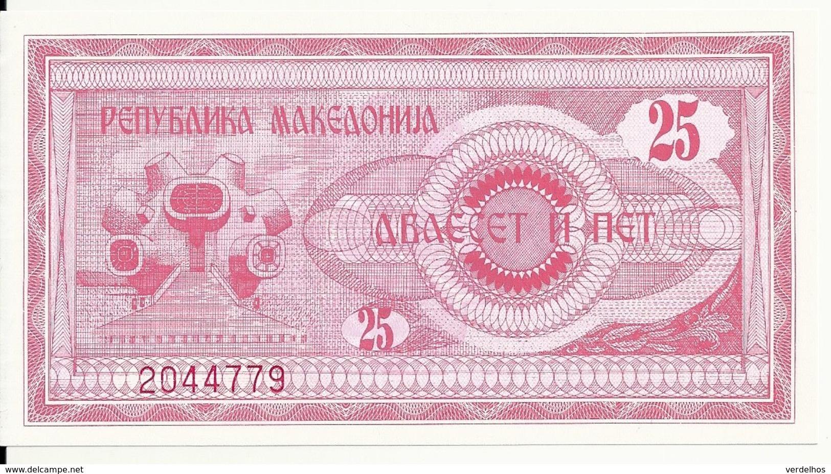 MACEDOINE 25 DENARI 1992 UNC P 2 - Macedonia