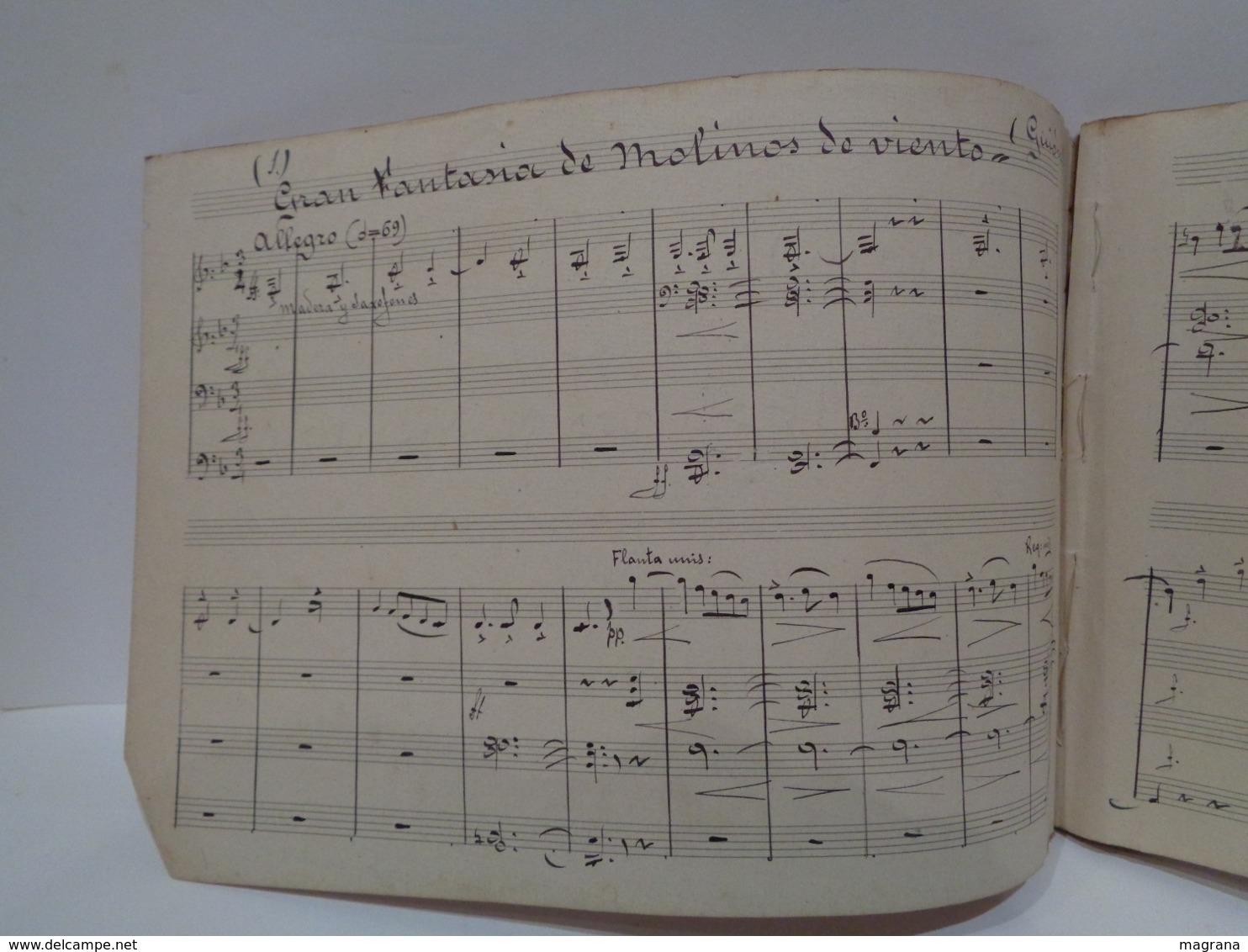 Gran Fantasia Sobre Motivos De La Opereta Molinos De Viento. Maestro Pablo Luna. - Partituras