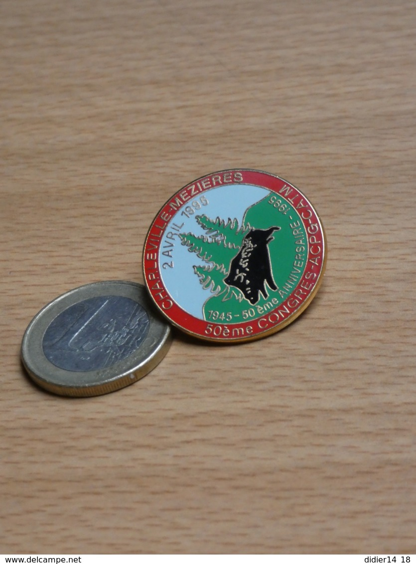 50eme CONGRES ACPG CATM. 2 AVRIL 1995. CHARLEVILLE MEZIERES ARDENNES. EGF. - Militaria
