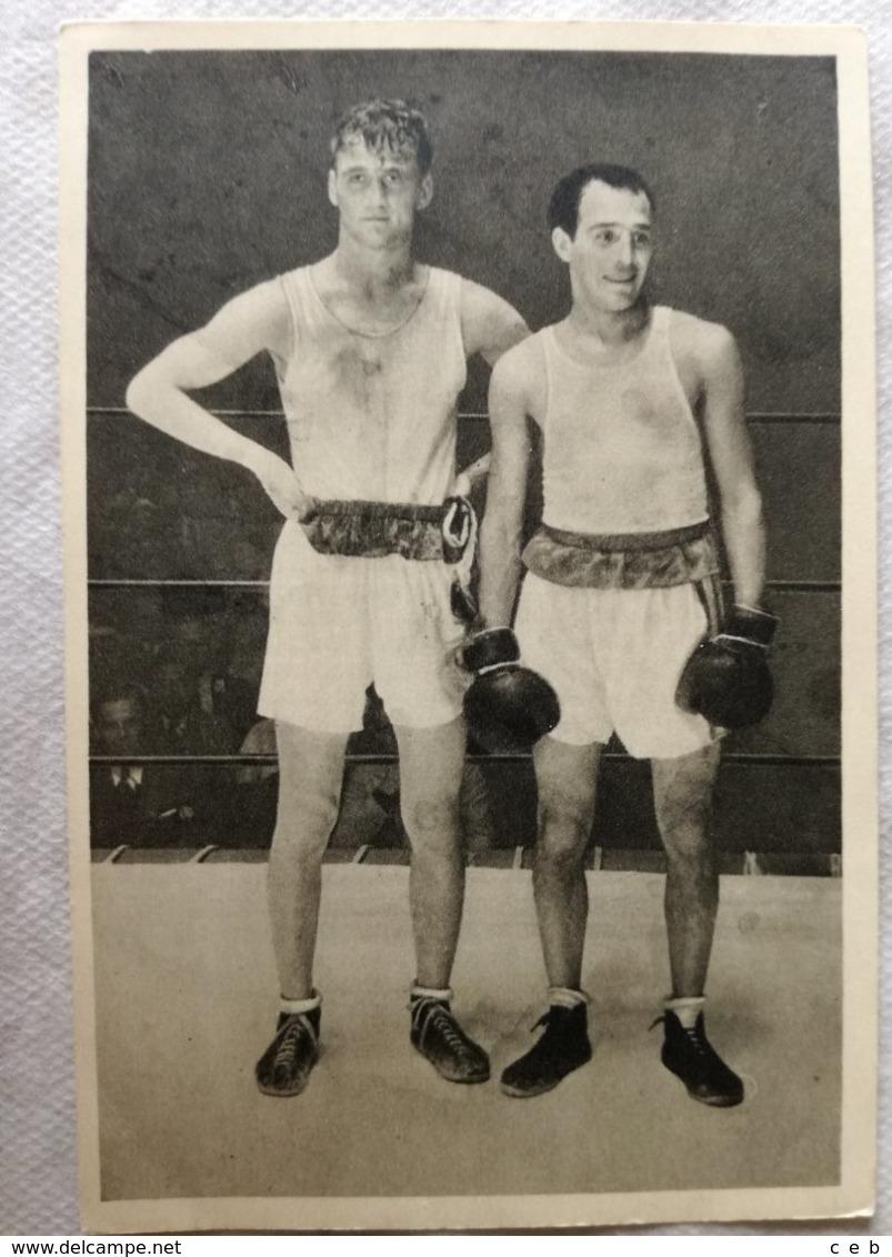 Foto Cromo Olimpiada De Los Ángeles. 1932. Nº 167. Boxeo, Alemania Josef Schleinkofer, Argentina Carmelo Robledo - Tarjetas