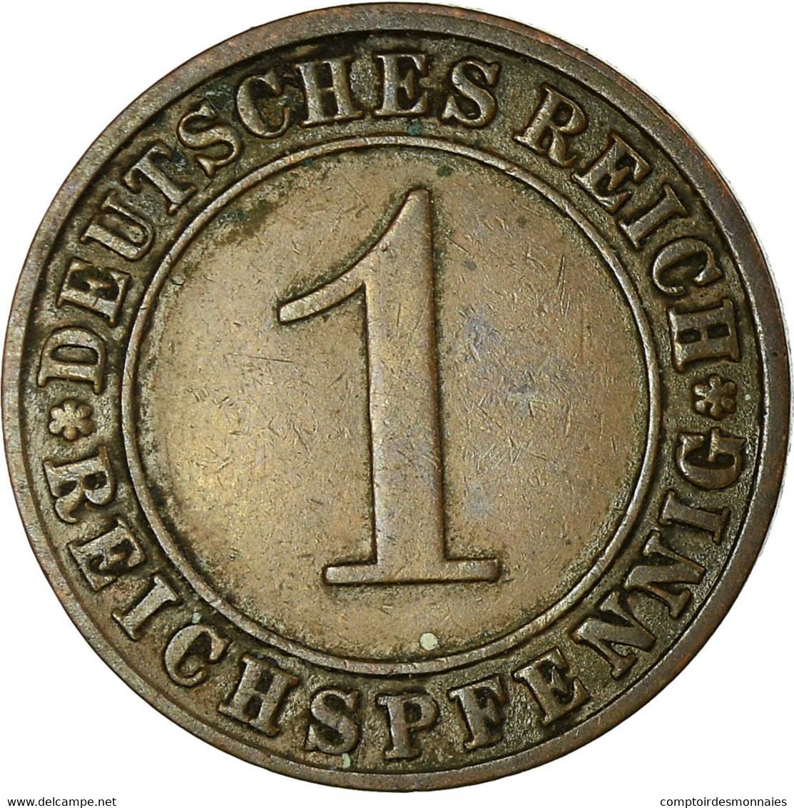 Monnaie, Allemagne, République De Weimar, Reichspfennig, 1924, Berlin, TTB - 1 Rentenpfennig & 1 Reichspfennig