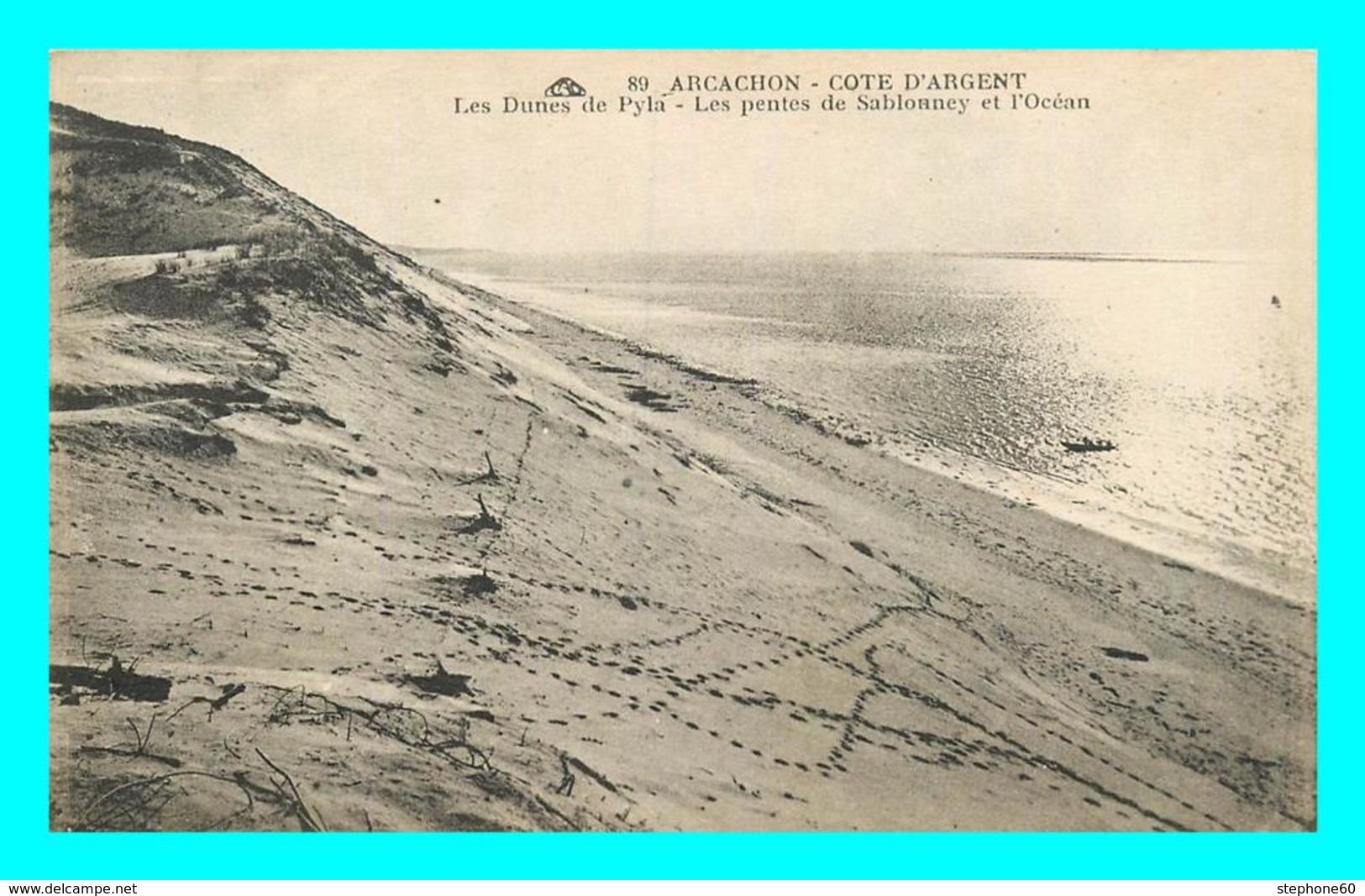 A753 / 045 33 - ARCACHON Dunes De Pyla Pentes De Sablonney Et L'Océan - Arcachon