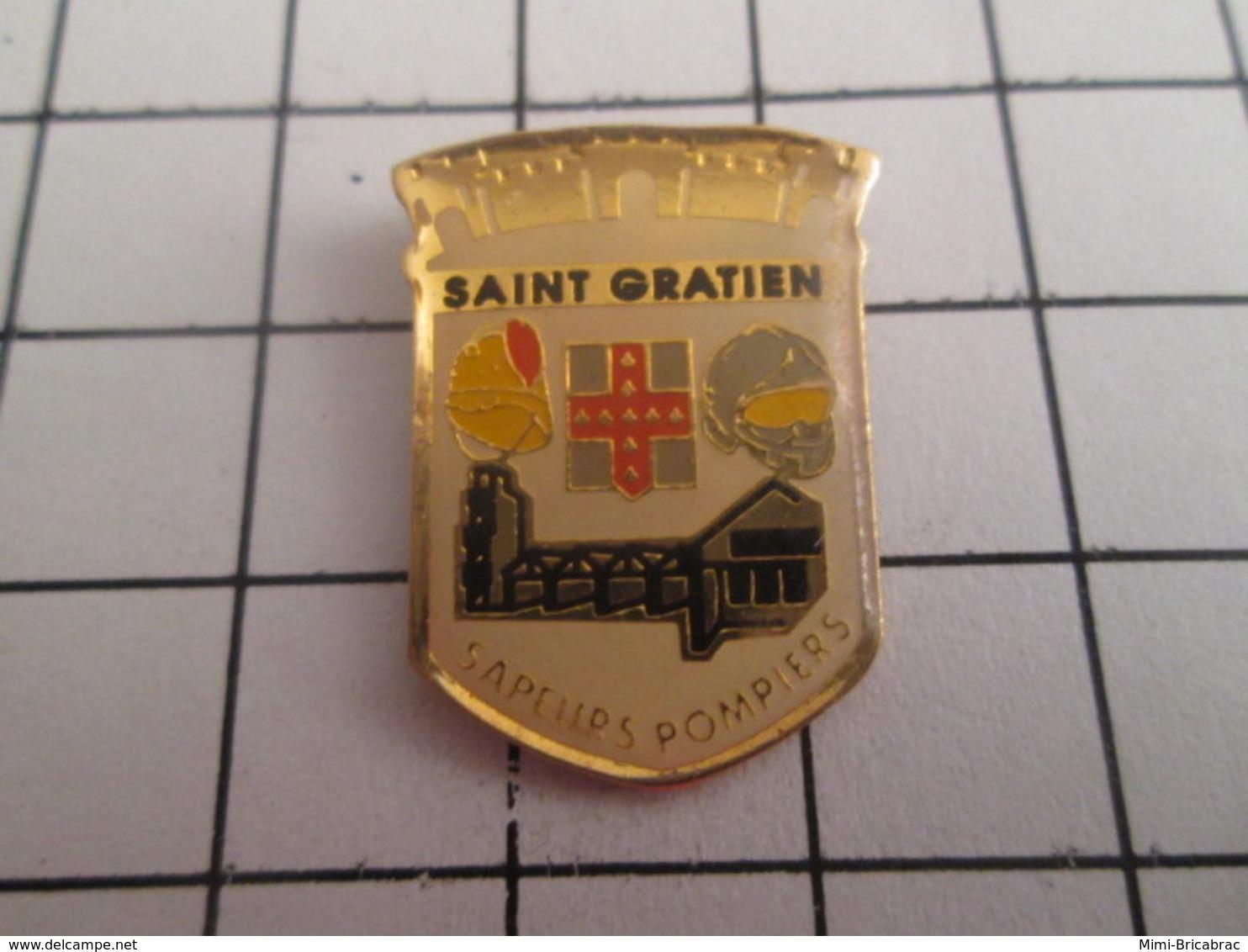 719 (pas 717)  PINS PIN'S / Beau Et Rare : Thème POMPIERS / SAPEURS POMPIERS DE ST GRATIEN - Brandweerman