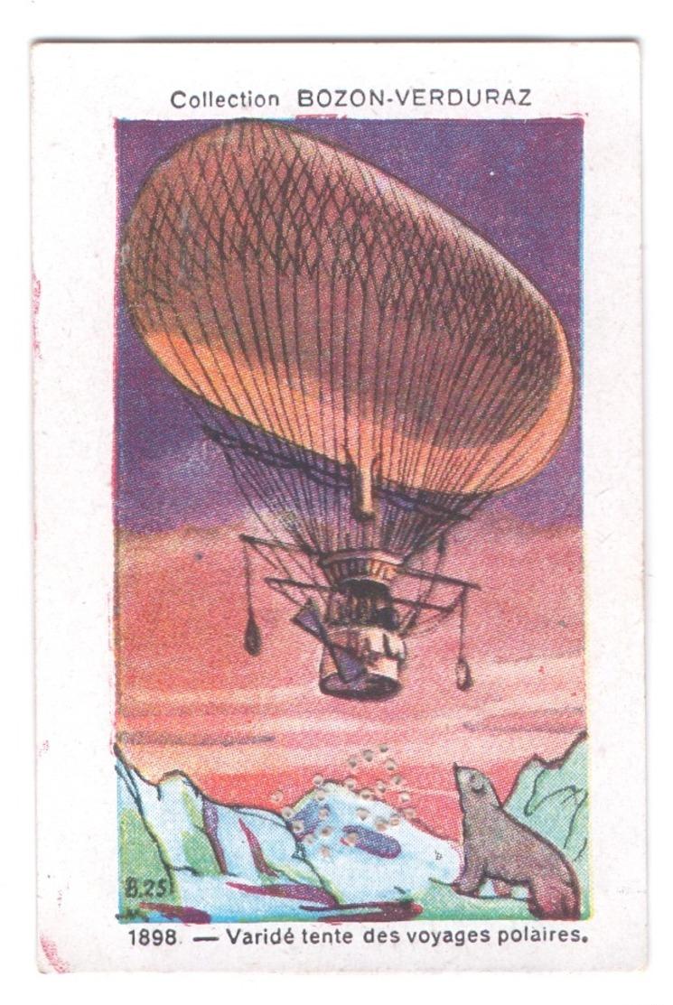 Image Collection Bozon Verduraz Aéronautique & Aviation Dirigeable Zeppelin 1898 Varidé Voyages Polaires Ours A30-65 - Autres