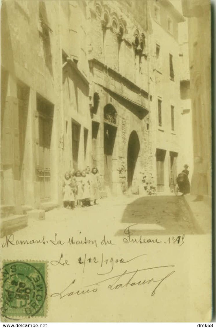 CPA FRANCE - ROMANS - PHOTO ENVOYE AU CAPITAIN DE LA GARDE PONTIFICALE SUISSE AU VATICAN - 1900 (5487) - Romans Sur Isere