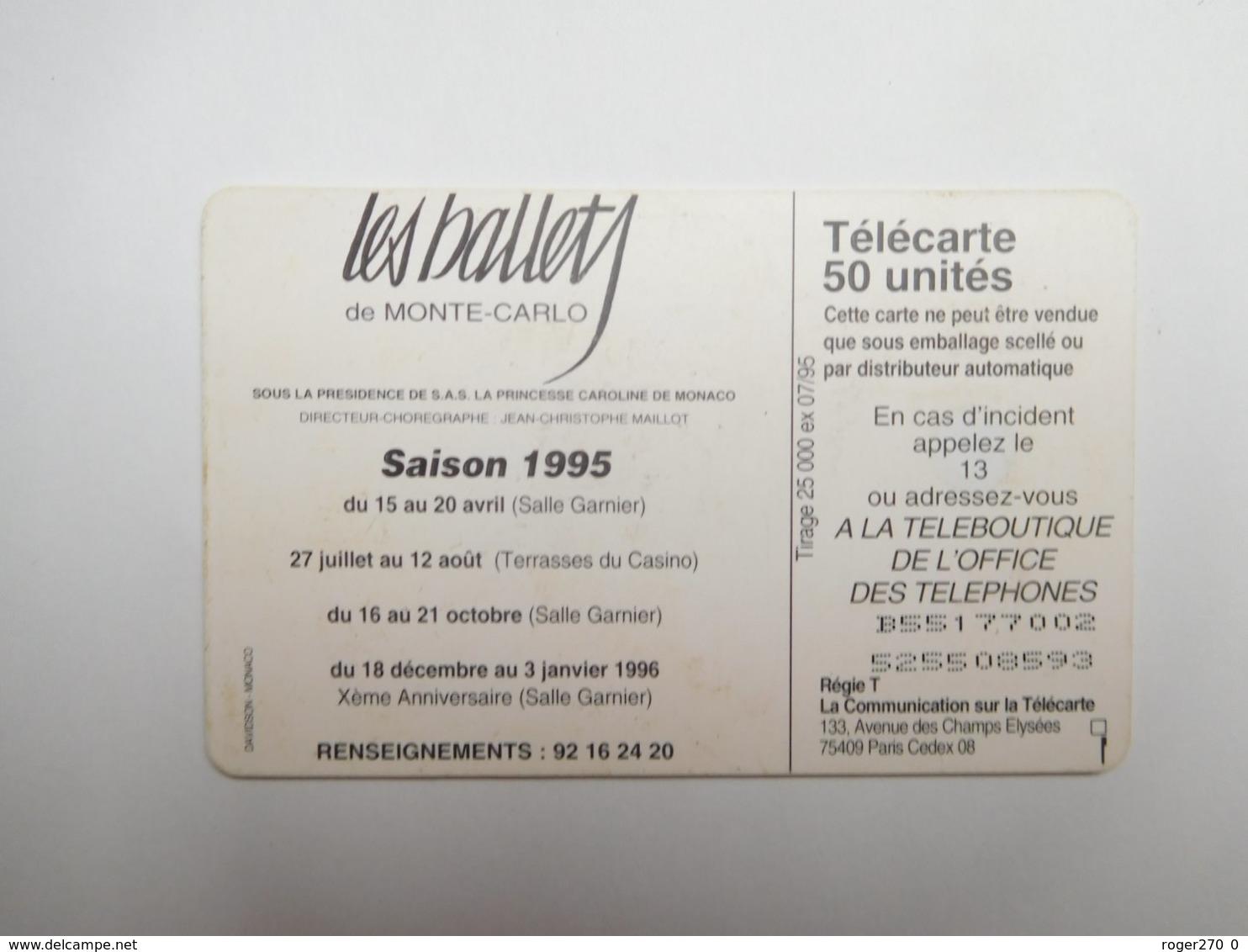 Télécarte Publique , Monaco , Ballets 2 , MF29 - Monaco