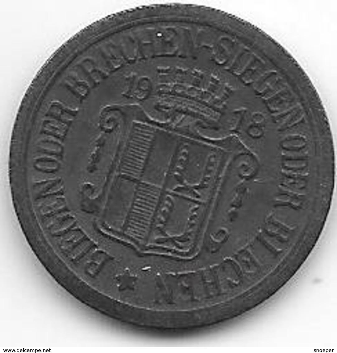 *notgeld  Selb  10 Pfennig   1918  Zn  495.3a/a - Autres