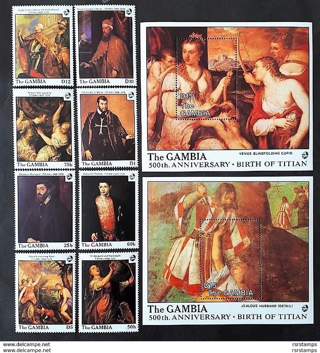 # Gambia 1988**Mi.773-82 Painting-Titian ,MNH [22;3] - Künste