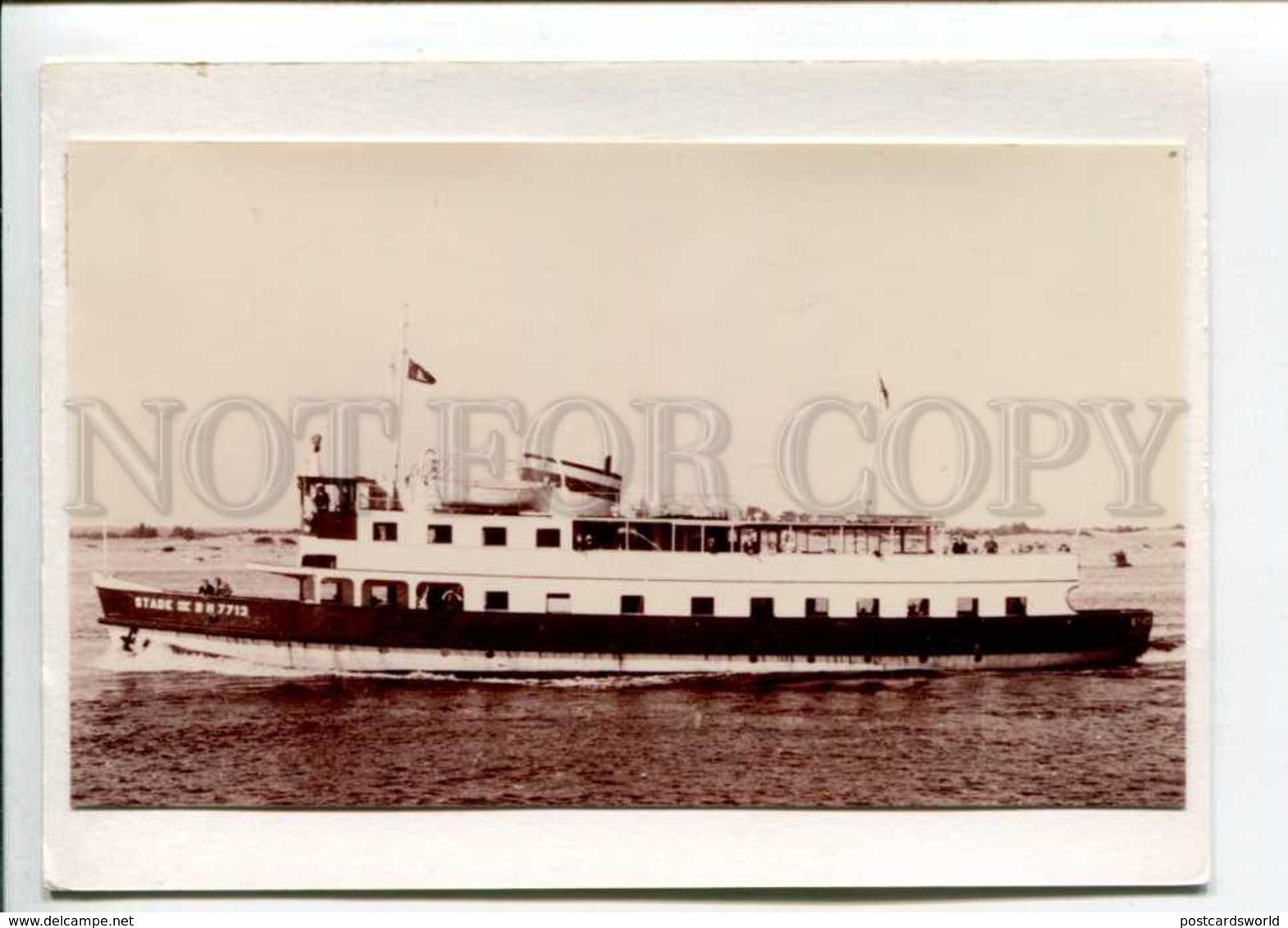 402054 Ship Stade III Old Photo Gluing On Card - Photographs