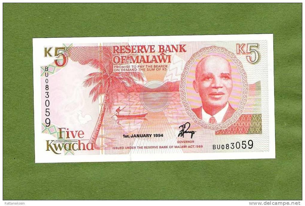 MALAWI  P24b  5  KWACHA   1994 #BU    UNC. - Malawi