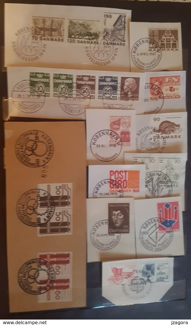 DENMARK DANMARK DÄNEMARK COLLECTION 40 DIFFERENT  SLANIA ENGRAVED STAMPS FIRST DAY CANCEL - Dinamarca