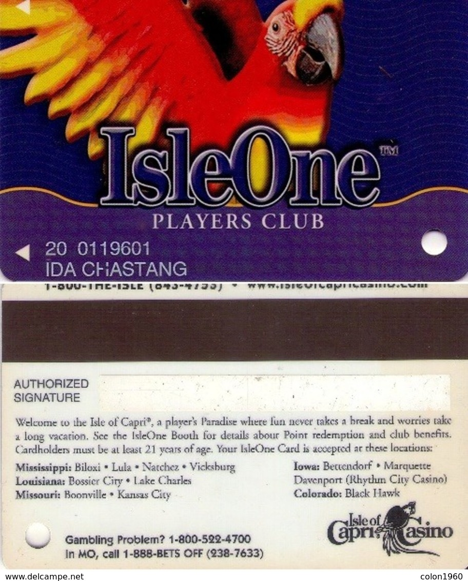 TARJETA DE CASINO - CASINO CARD. ISLEONE CASINO. 010. - Casino Cards