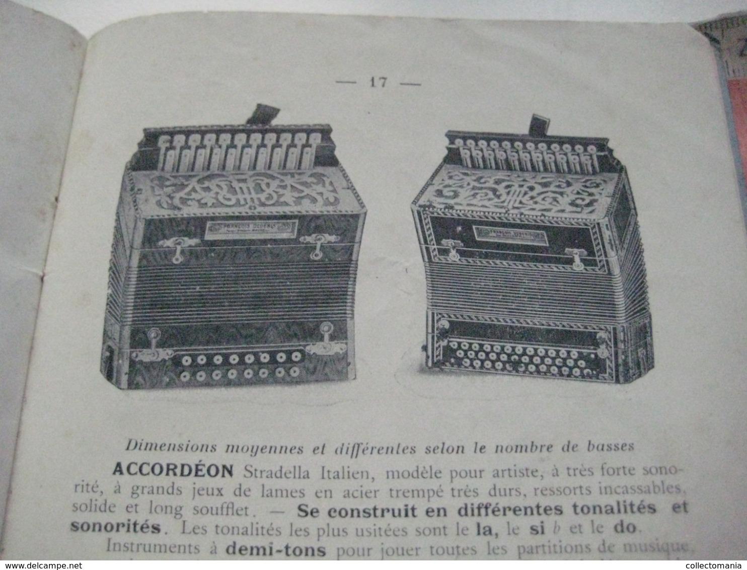 1 Catalogue DEDENIS à BRIVE 1928 Avec Prix Tarif- ACCORDEONS ARMONICHE  Accordions + 1 Buvard HOHNER Verhaeghen - Rouen - Instruments De Musique