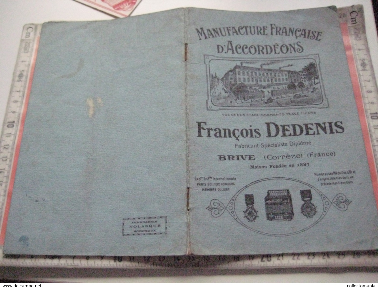 1 Catalogue DEDENIS à BRIVE 1928 Avec Prix Tarif- ACCORDEONS ARMONICHE  Accordions + 1 Buvard HOHNER Verhaeghen - Rouen - Musikinstrumente