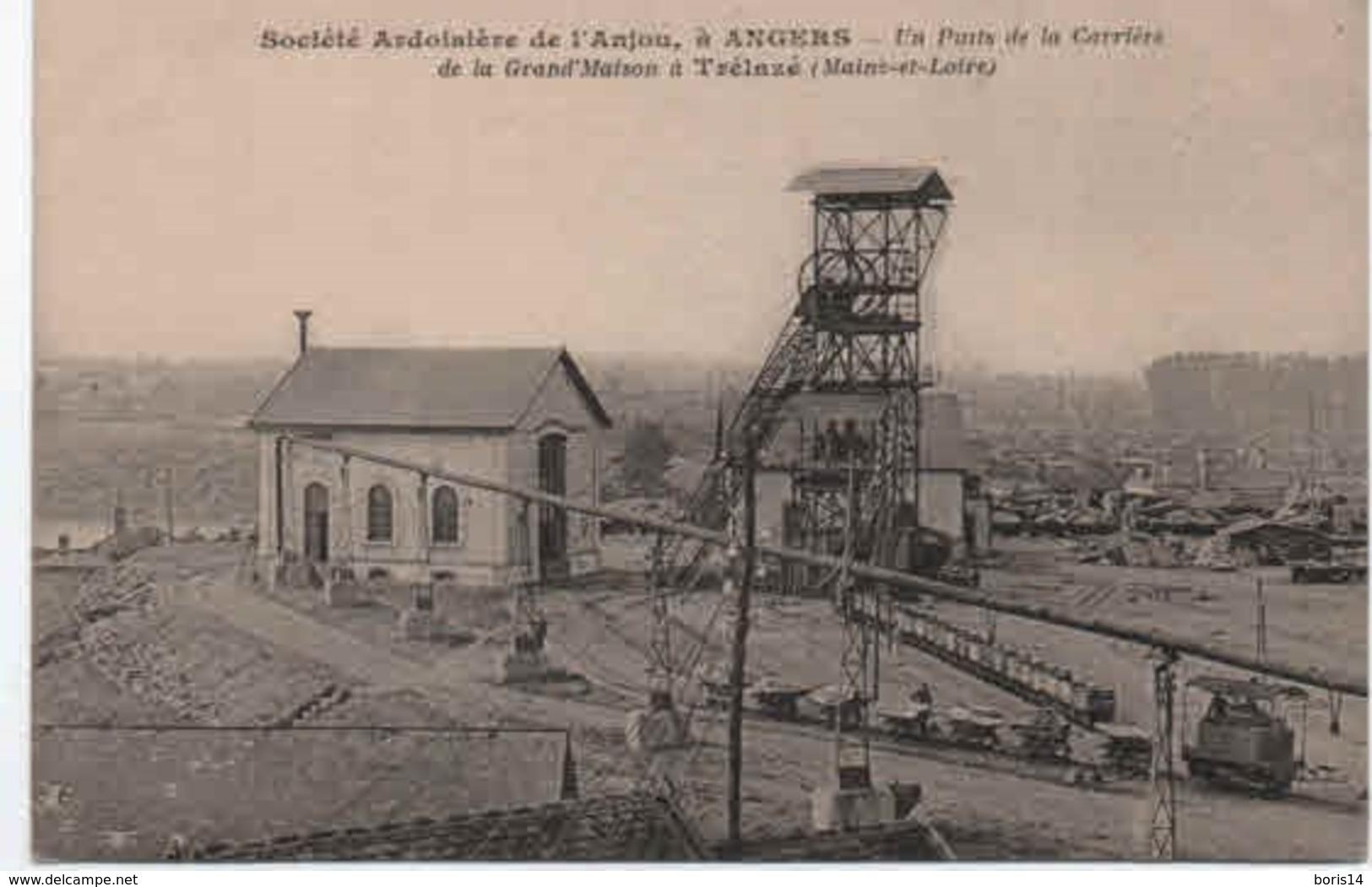 49- 50341  -   ANGERS  -   Société Ardoisiere De L'anjou,un Puit De La Carriere - Angers