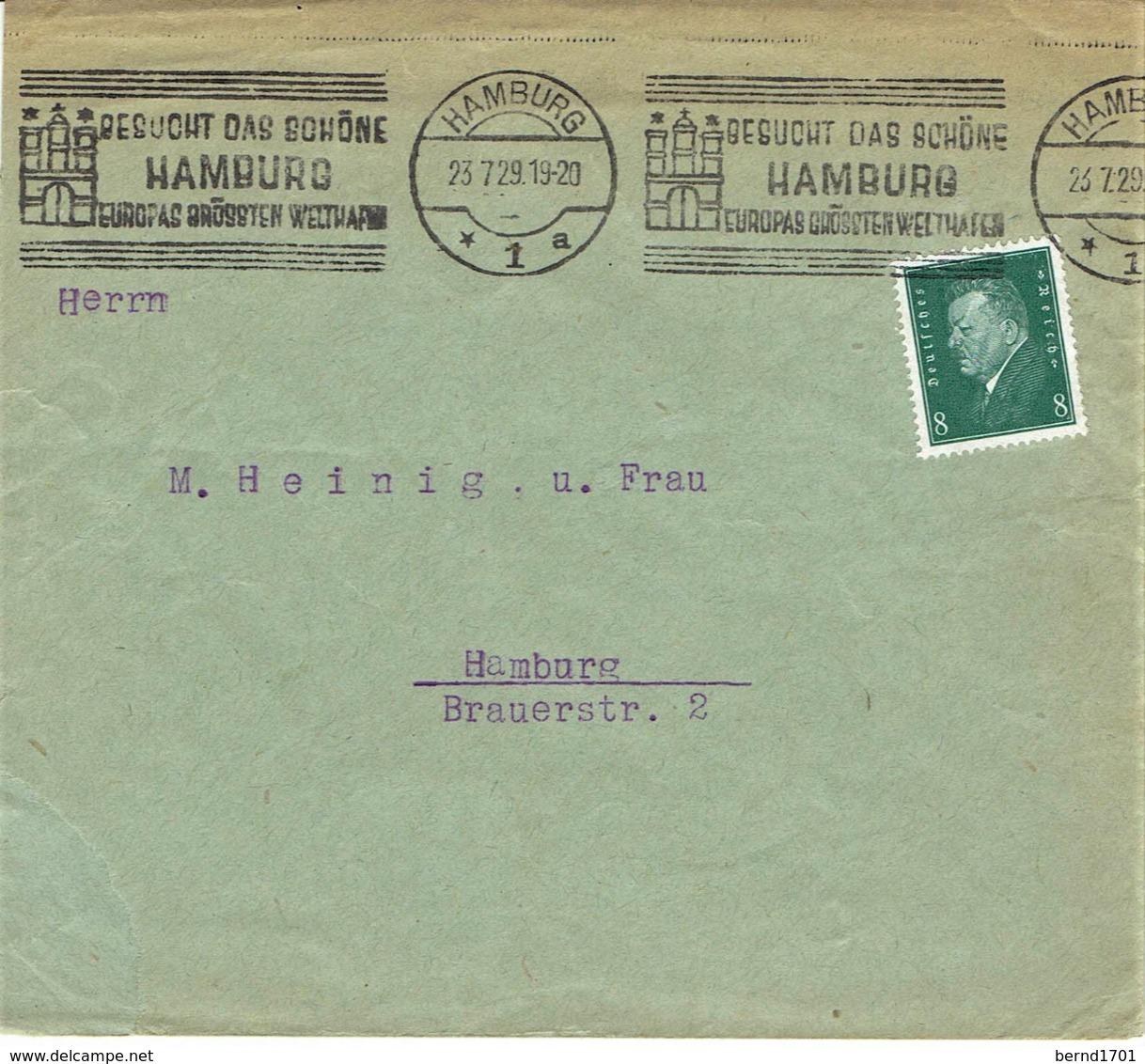 Deutsches Reich - Umschlag Echt Gelaufen / Cover Used (A963) - Deutschland