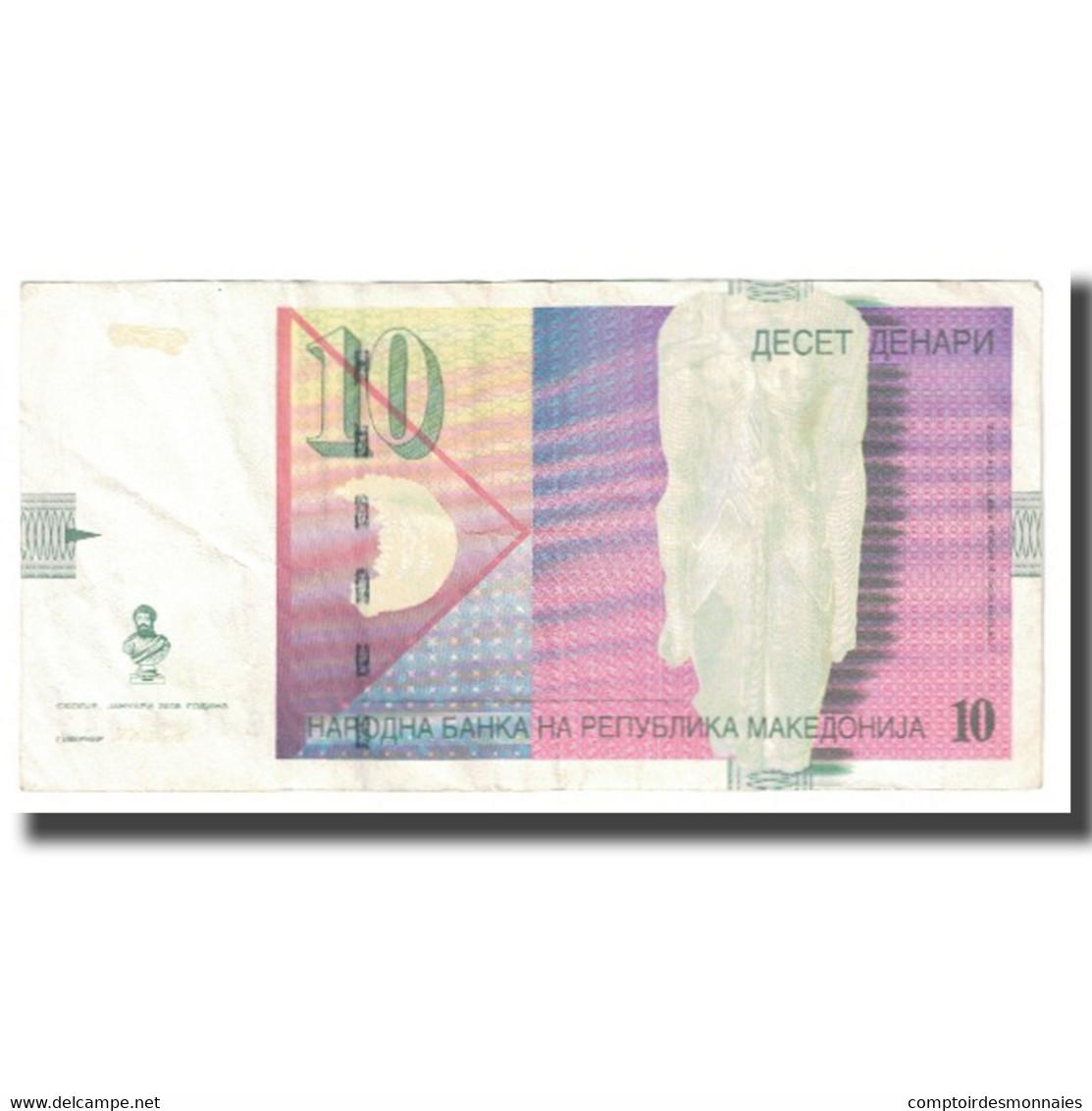 Billet, Macédoine, 10 Denari, 2008, KM:14g, TTB - Macedonia