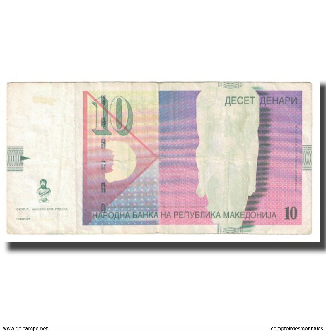 Billet, Macédoine, 10 Denari, 2008, KM:14g, TB - Macedonia
