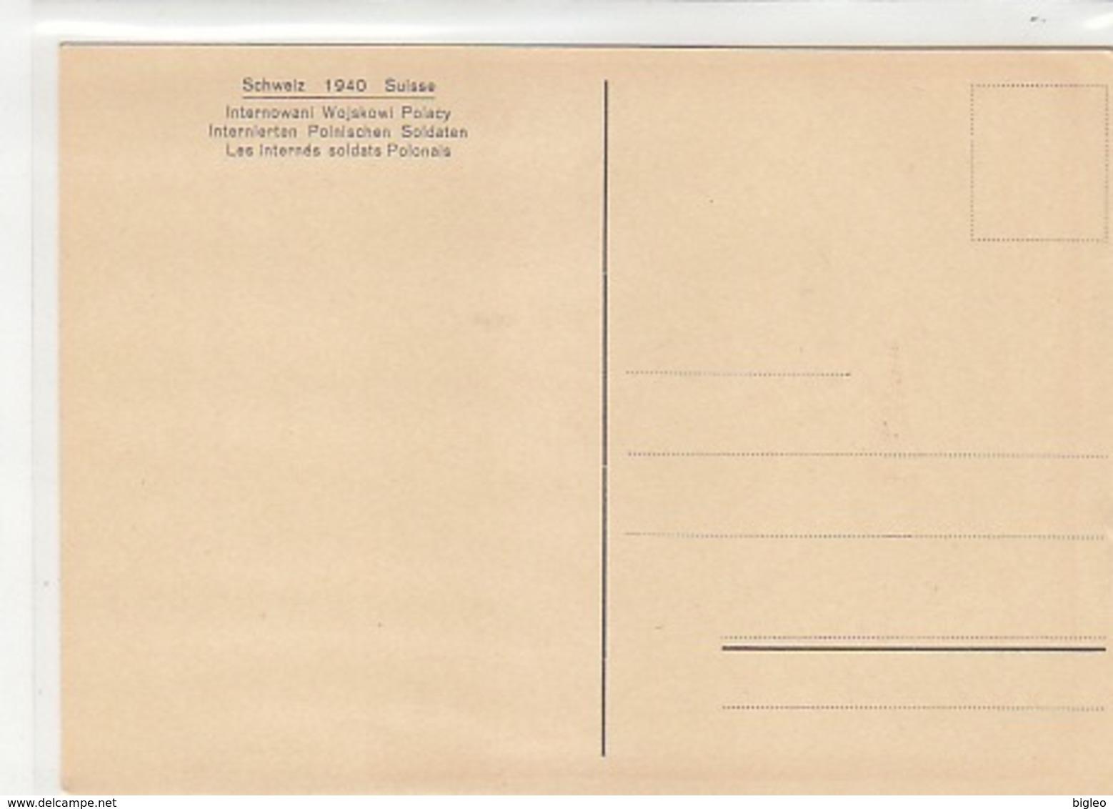 Z. Opalinski - Internierte Polnische Soldaten In Der Schweiz 1940 - Sign.         (A-129-160822) - Illustratori & Fotografie