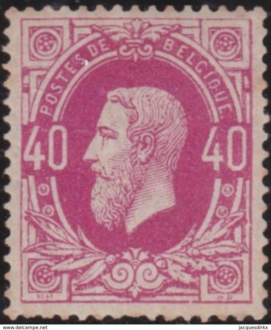 Belgie      .    OBP     .    34a  (2 Scans)   .   *       . Ongebruikt Met Gom  .   /    .    Neuf  Avec Gomme - 1883 Leopold II