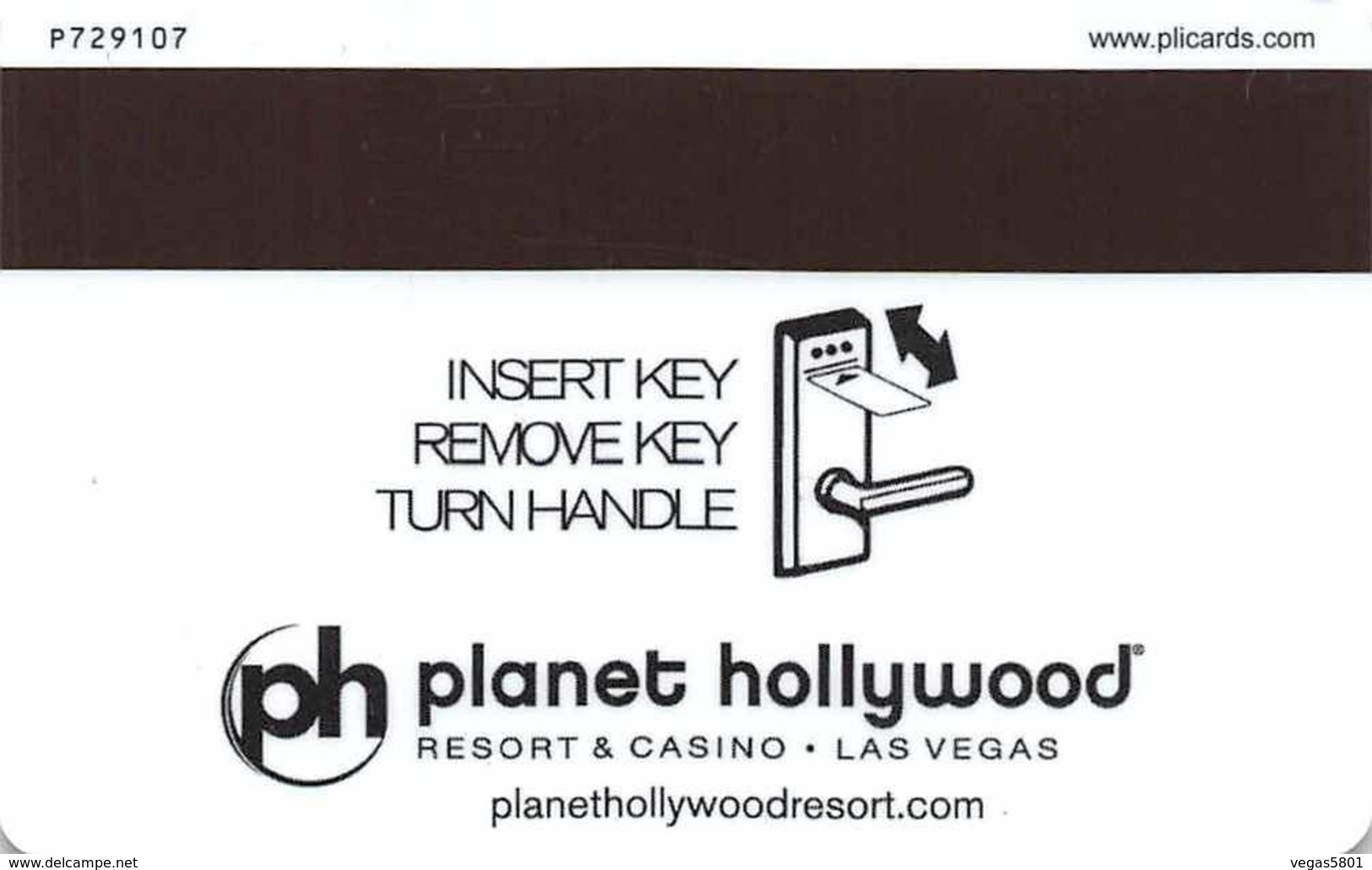 PLANET HOLLYWOOD - Hotel & Casino, Las Vegas - Hotel Room Key Card, Hotelkarte, Schlüsselkarte, Clé De L'Hôtel - Hotelkarten