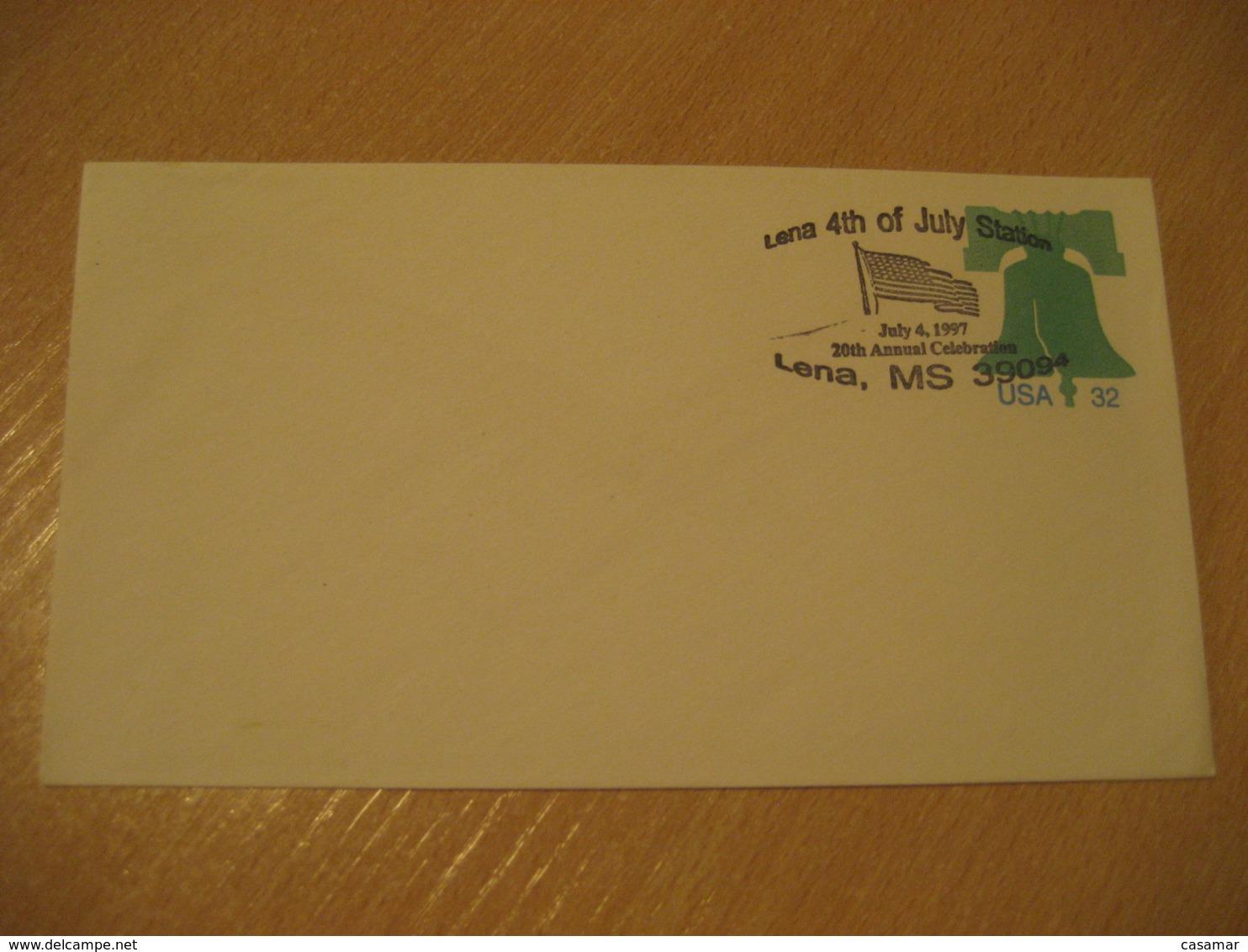 LENA 1997 Flag Flags Cancel Cover USA - Briefe