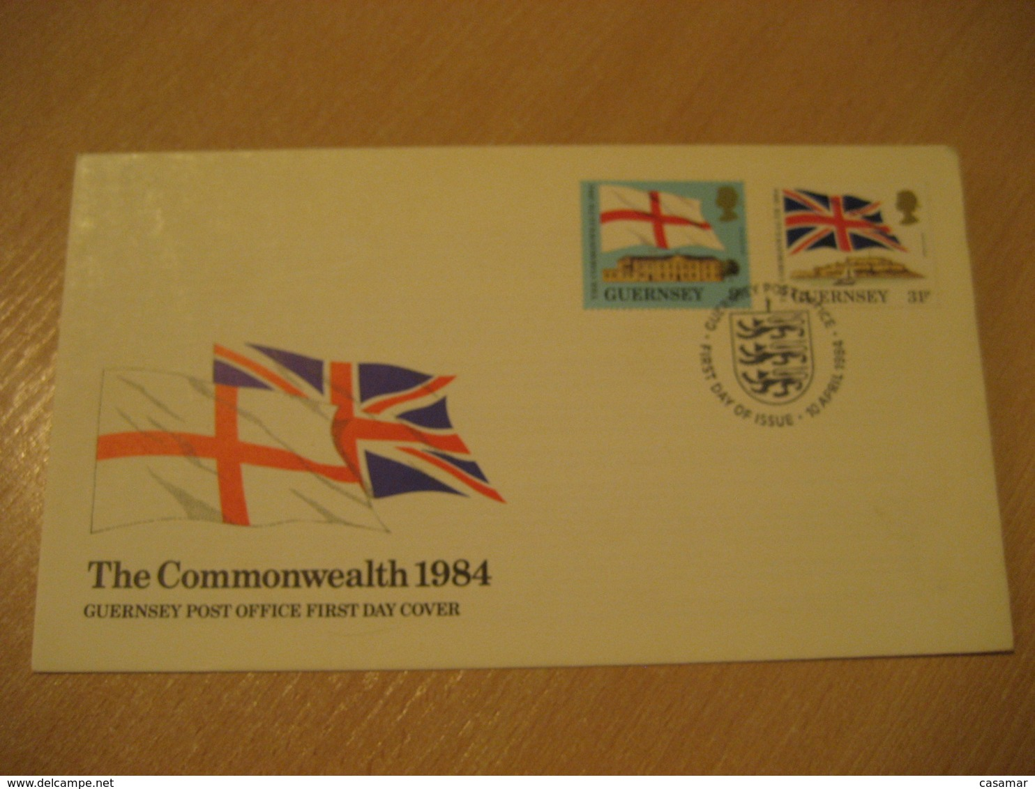 GUERNSEY 1984 The Commonwealth Flag Flags FDC Cancel Cover CHANNEL ISLANDS - Omslagen
