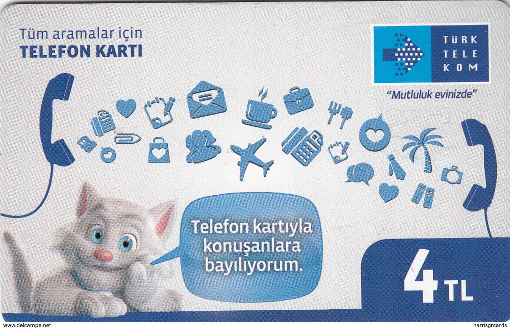 TURKEY - Mutluluk Evinizde ,Haziran 2017, Chip 8 ,4₤ Turkish Lira , Used - Türkei