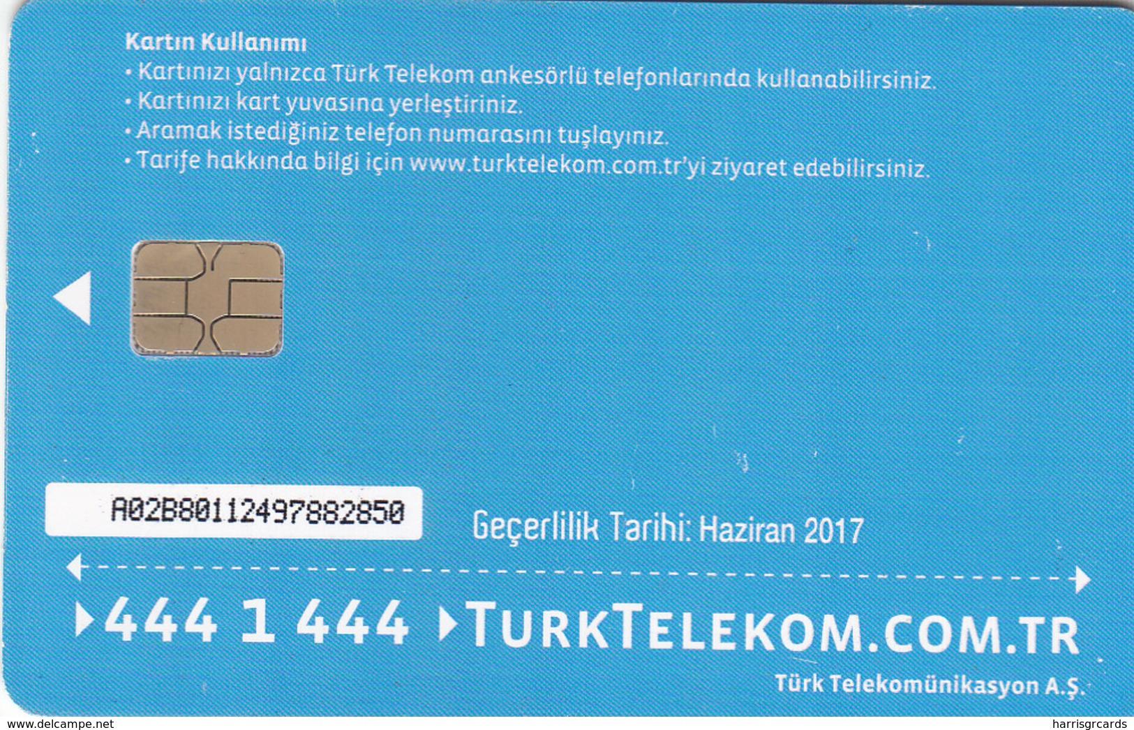 TURKEY - Mutluluk Evinizde ,Haziran 2017, Chip 8 ,4₤ Turkish Lira , Used - Turkey