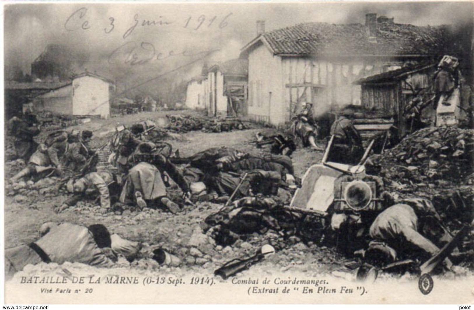 Bataille De La Marne (6, 13 Sep. 1914) Combat De COURDEMANGES    (117670) - Guerra 1914-18