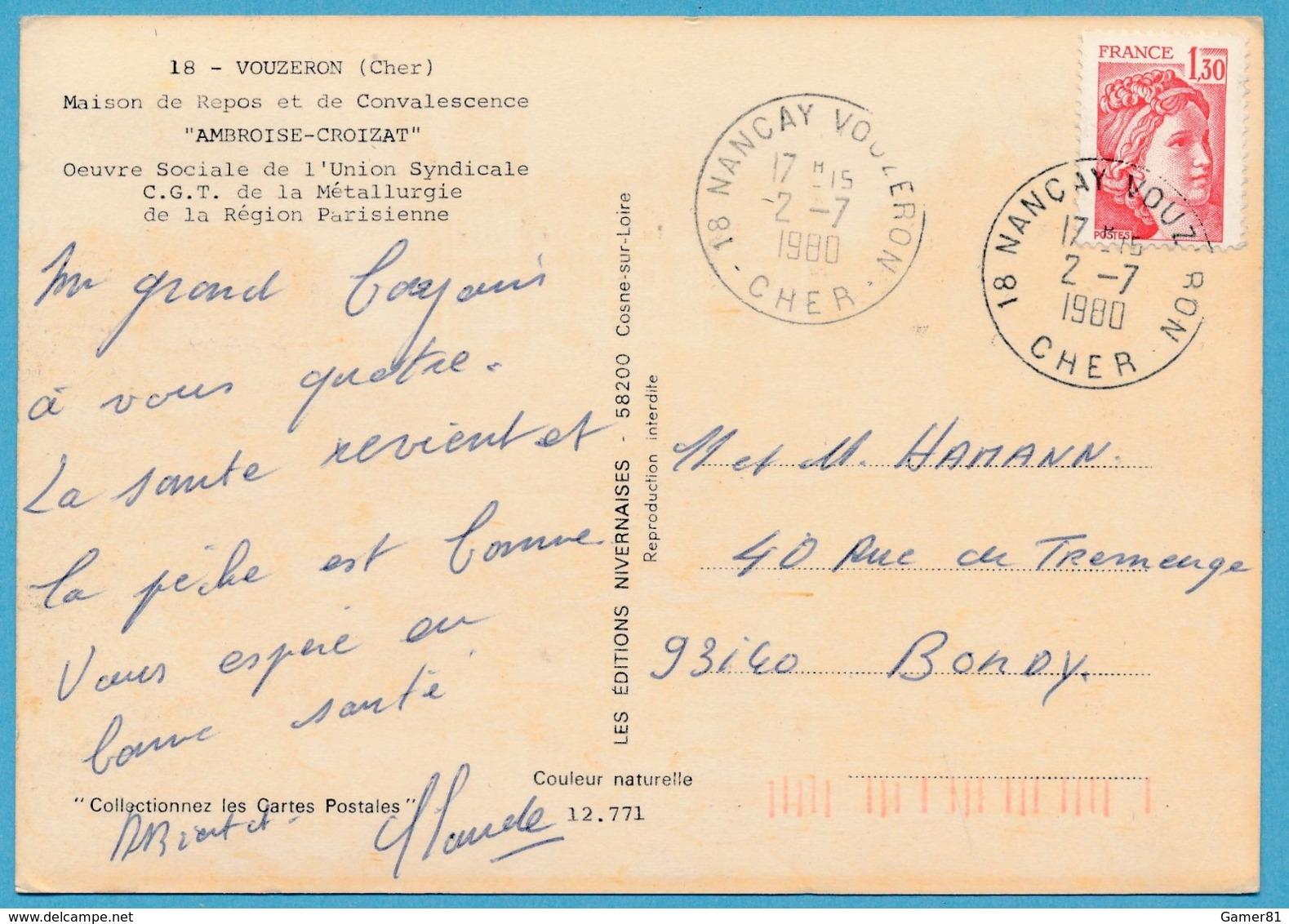 VOUZERON - Maison De Repos Et De Convalescence AMBROISE-CROIZAT - Vouzeron