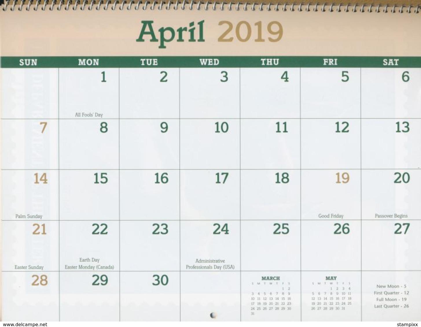 USA Calendar Ducks. Migratory Birds And Hunting Conservation Stamp 2019 - Seizoenen En Feesten