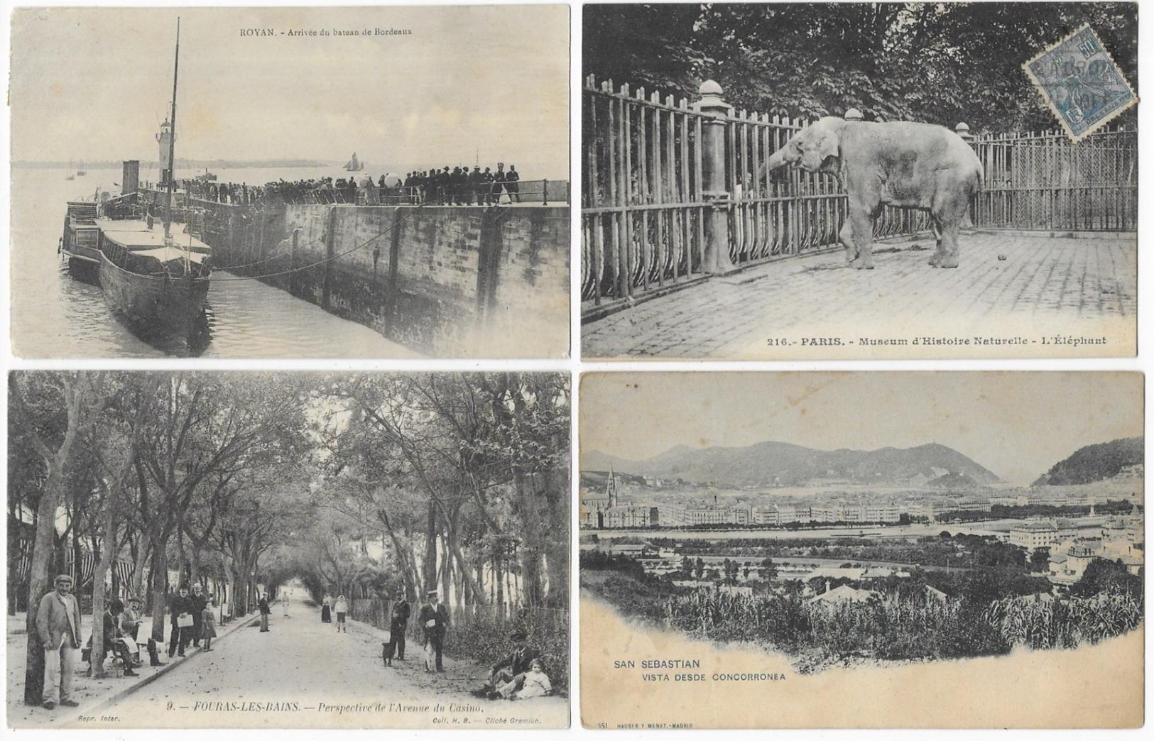 Lot De 400 Cartes/Carte Photo/France/Etranger/Fantaisies...Format CPA - Cartoline