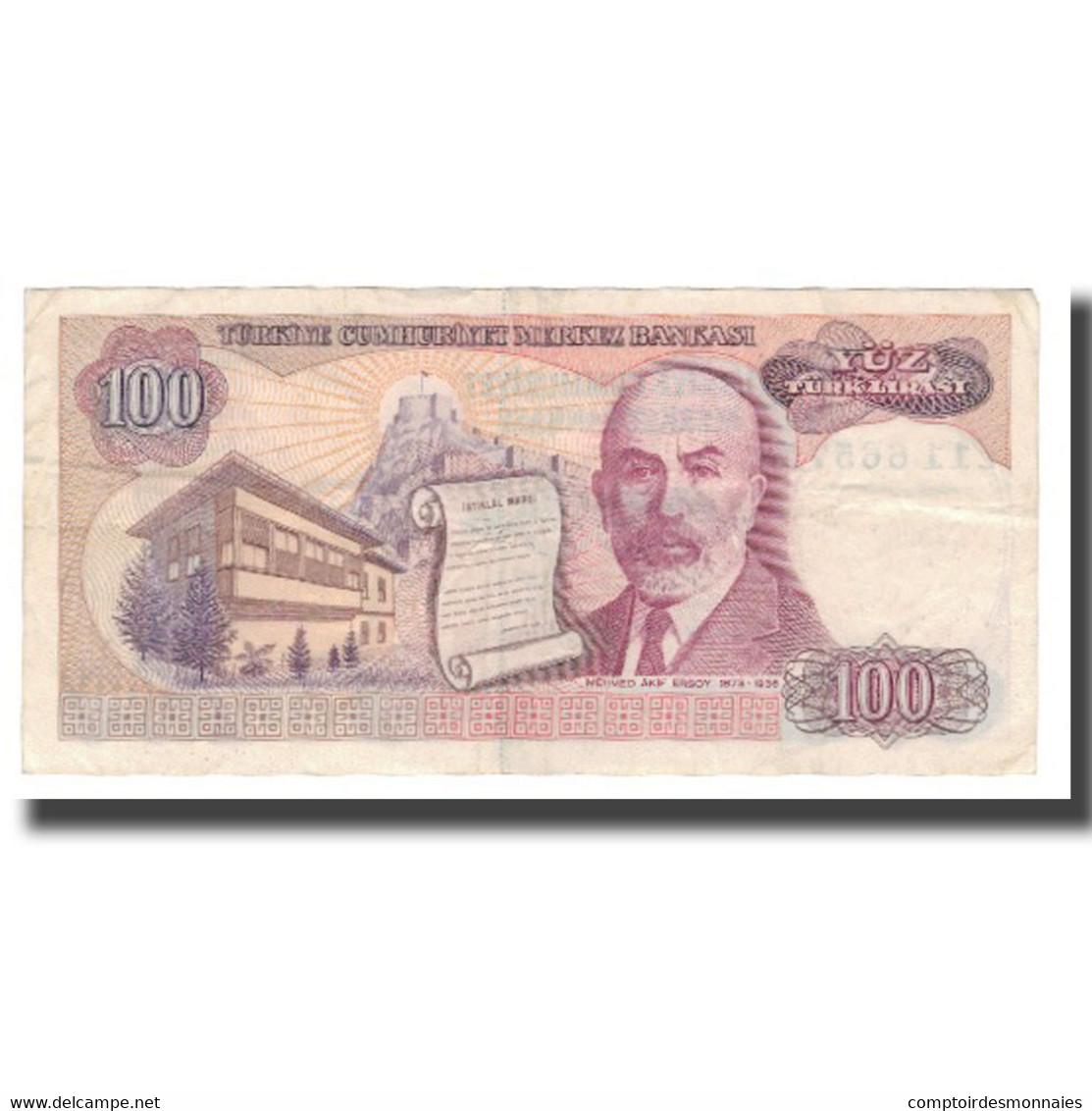 Billet, Turquie, 100 Lira, L.1970 (1984), KM:194b, TTB+ - Turchia