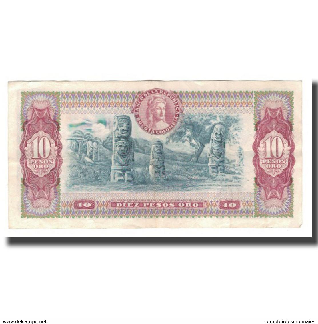 Billet, Colombie, 10 Pesos Oro, 1976, 1976-07-20, KM:407f, SPL - Colombia