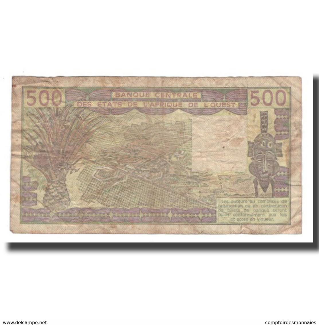 Billet, West African States, 500 Francs, 1981-1990, KM:706Kc, TB - West-Afrikaanse Staten