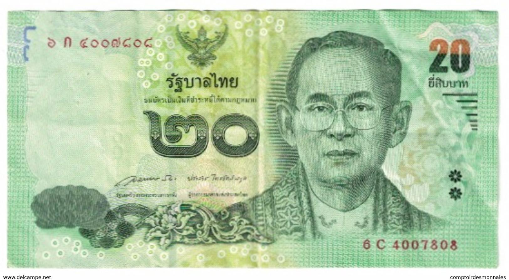 Billet, Thaïlande, 20 Baht, KM:109, TTB - Thailand
