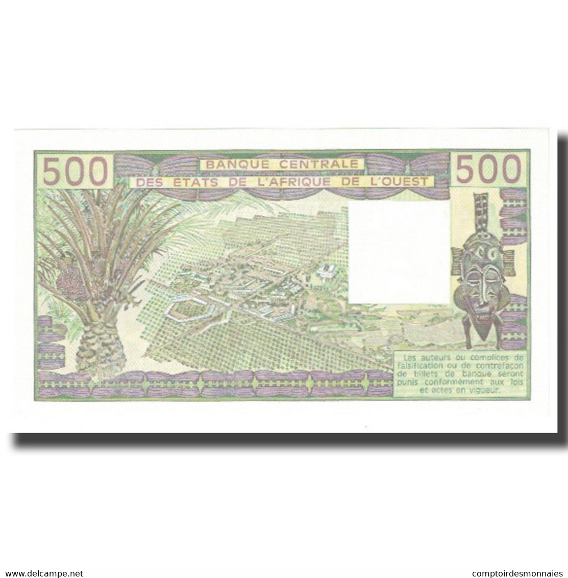 Billet, West African States, 500 Francs, 1985, KM:206Bi, NEUF - West African States