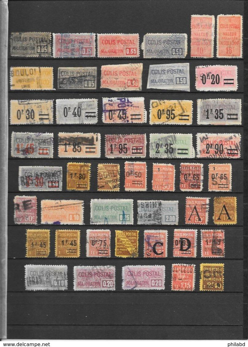 France Colis Postaux Lot De 76 Tp 1892-1960 O - Colis Postaux