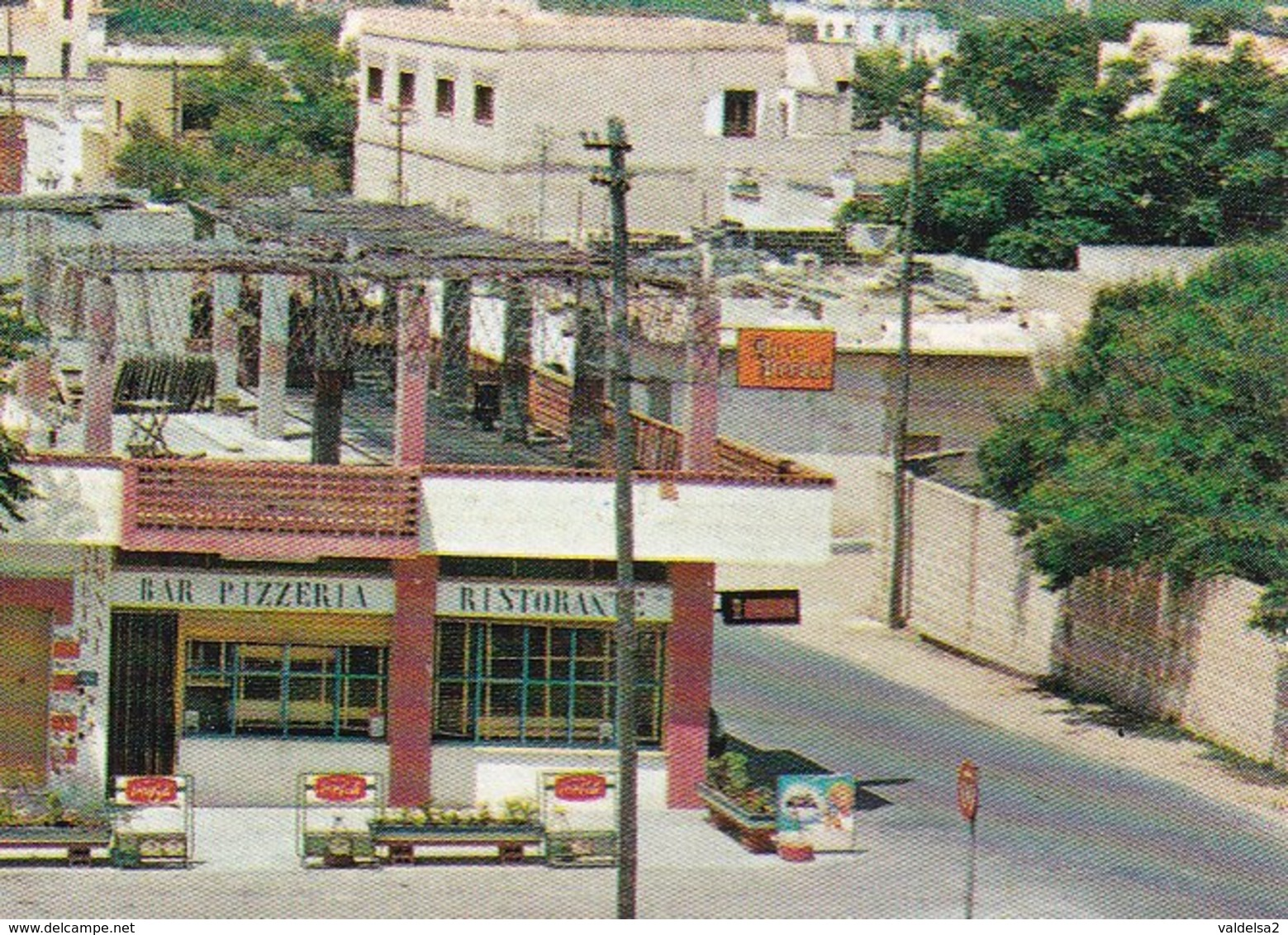 CAMPOMARINO DI MARUGGIO - TARANTO - INSEGNA PUBBLICITARIA BIRRA PERONI - BAR PIZZERIA - AUTO - 1979 - Taranto