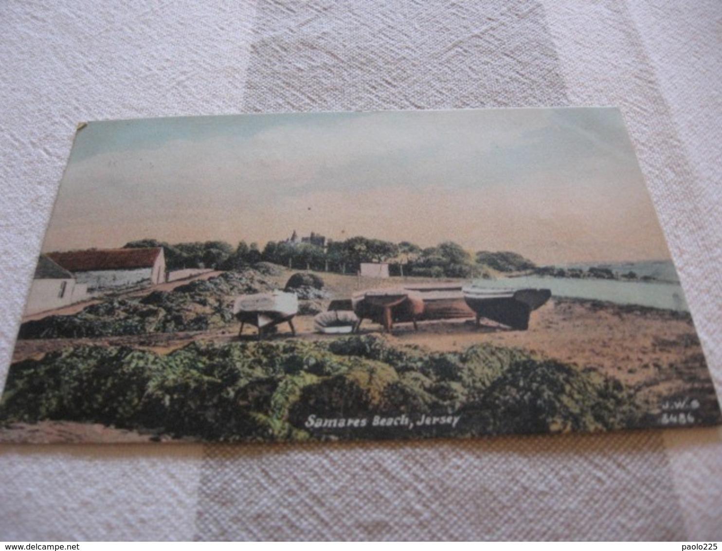 JERSEY SAMARES BEACH  COLORI VG0 1907 - Jersey