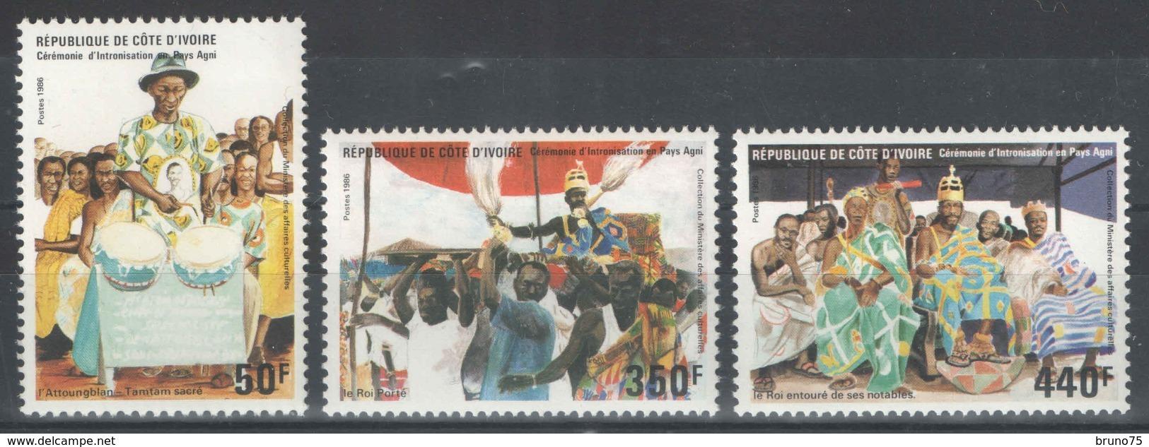 Côte D'Ivoire - YT 768-770 ** MNH - 1986 - Côte D'Ivoire (1960-...)
