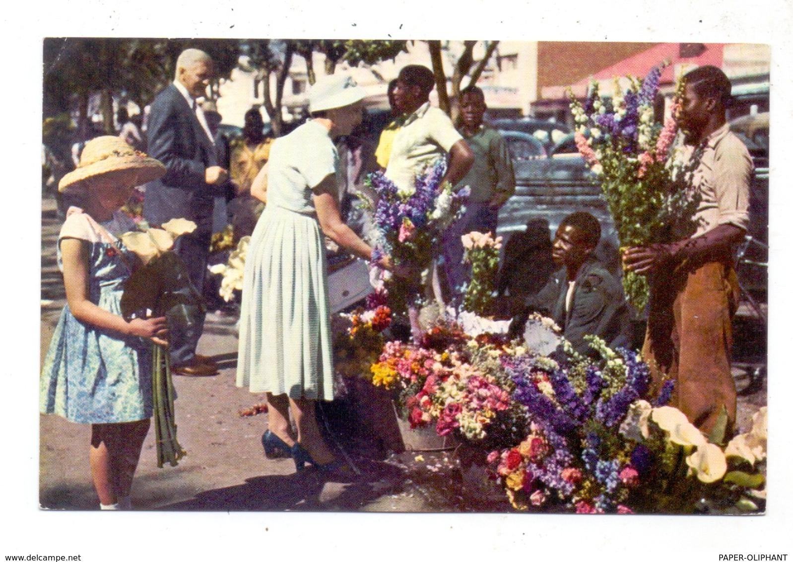 SIMBABWE / RHODESIA & NYASSALAND, SALISBURY / HARARE, Cecil Square, Flower Sellers - Simbabwe