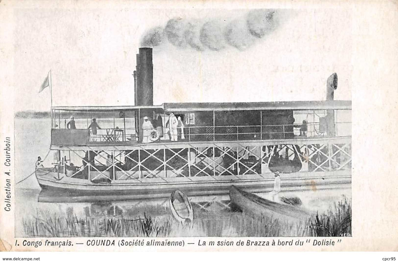 """Congo Français - N°61550 - COUNDA (Société Alima�enne) - La Mission De Brazza � Bord Du """"""""Dolosie"""""""" - Französisch-Kongo - Sonstige"""