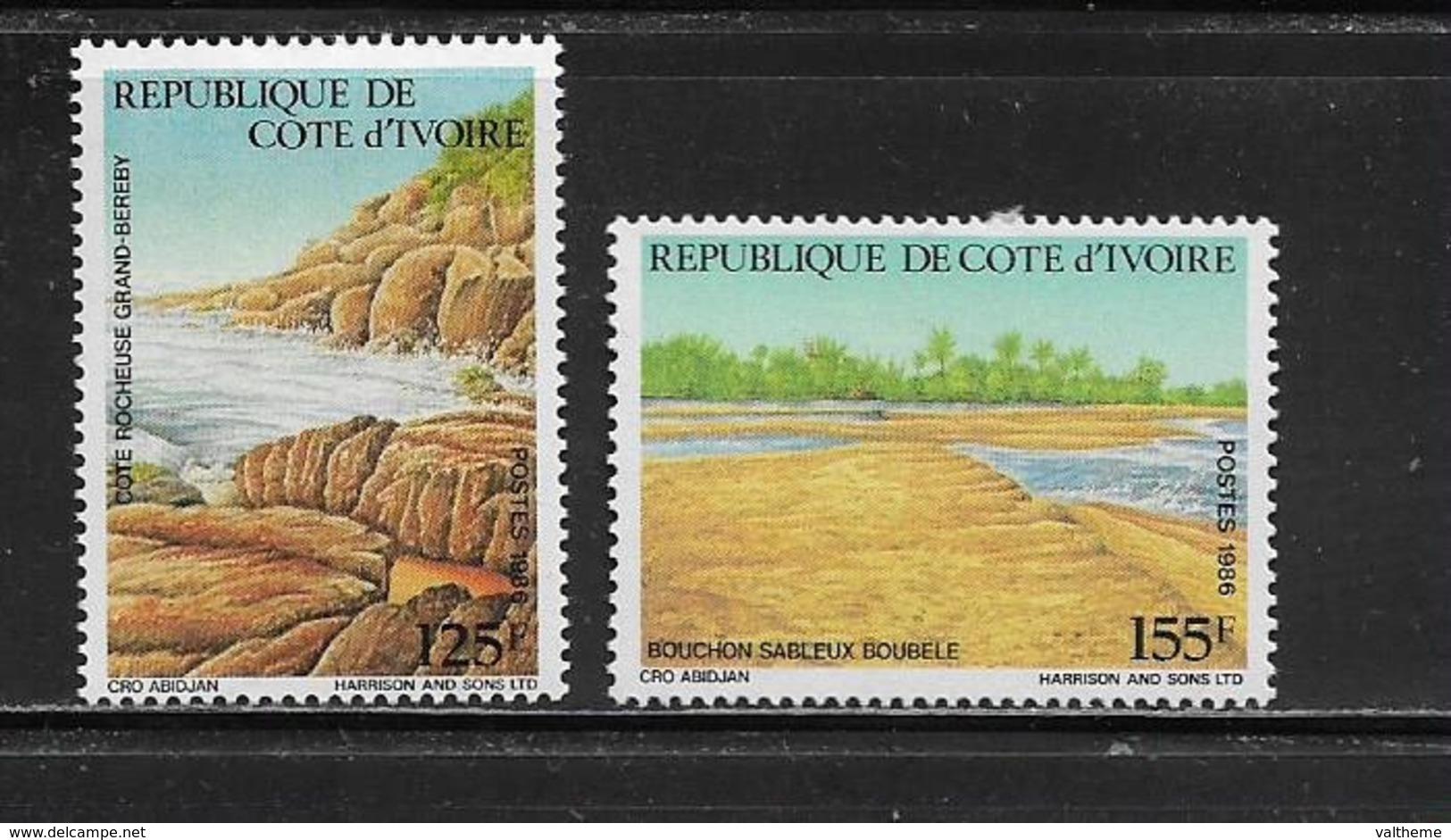 COTE D'IVOIRE ( CDIV - 183 ) 1986 N° YVERT ET TELLIER   N° 777/778  N* - Côte D'Ivoire (1960-...)