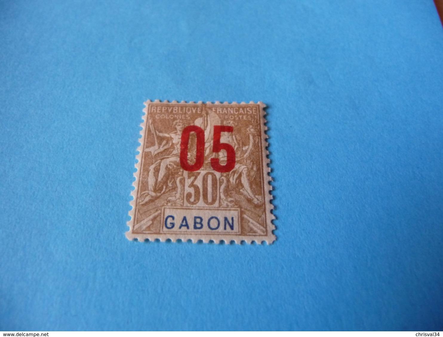 TIMBRE  GABON     N  71      COTE 0,90  EUROS    NEUF  TRACE  CHARNIÈRE - Ongebruikt