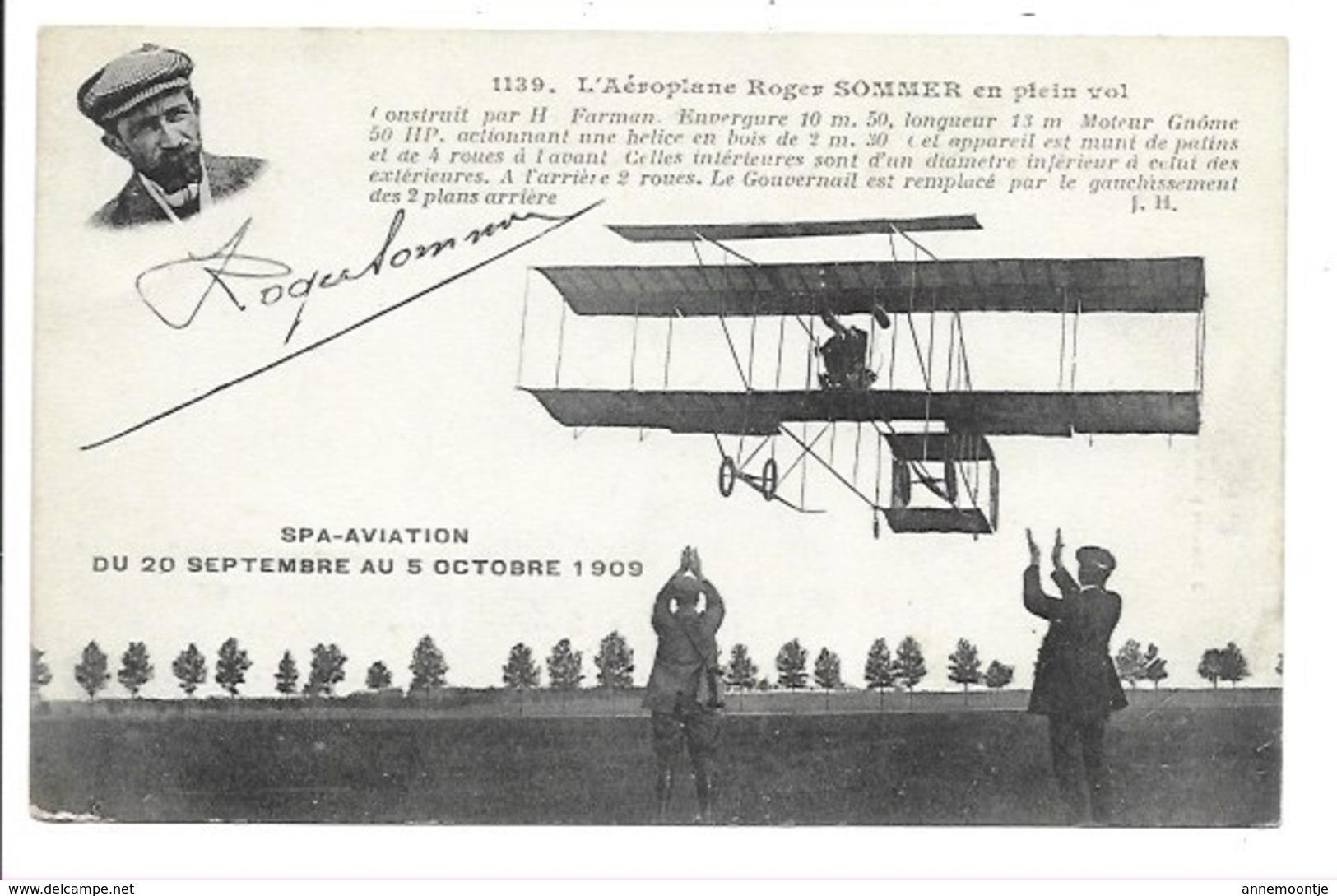 Spa - Aviation Du 20 Septembre Au 5 Octobre 1909. - Flugwesen