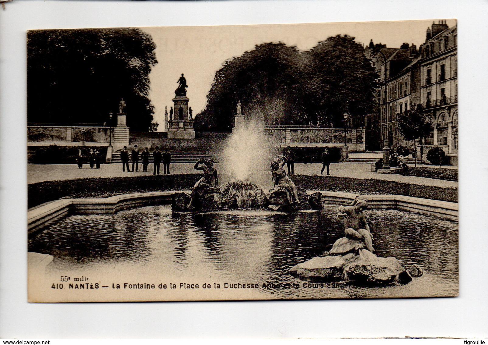 CP29334 - Nantes - La Fontaine De La Place De La Duchesse-Anne Et Le Cours Saint-Pierre - Ecrite - Nantes