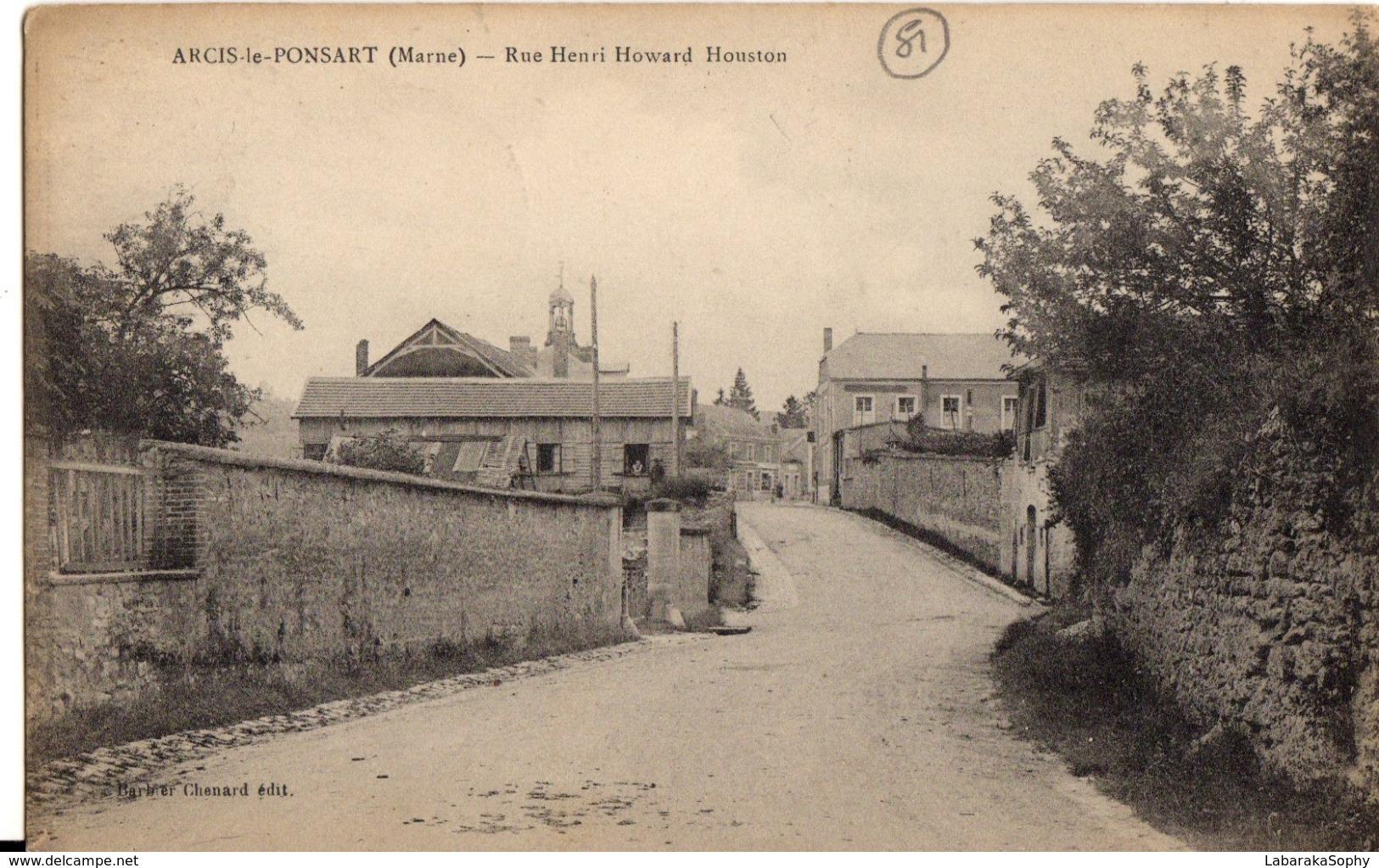 Arcis Le Ponsart - Rue Henri Howard Houston - Non Classés