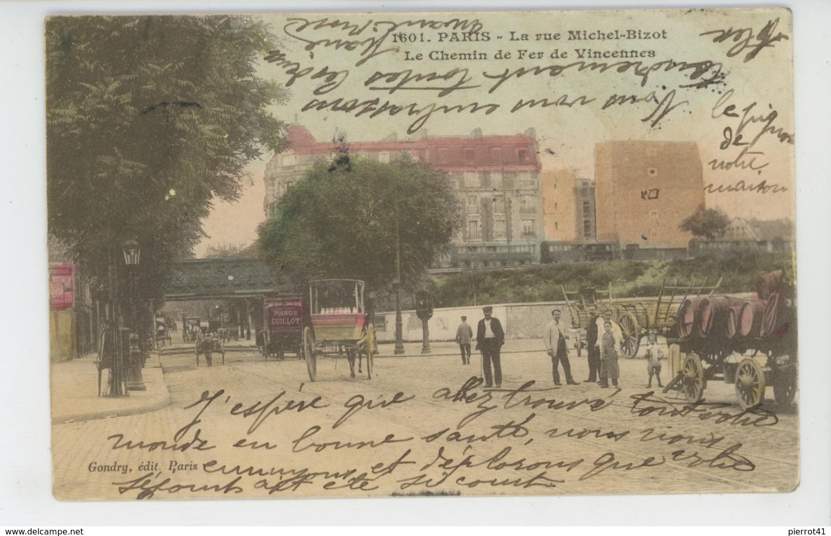 PARIS - XIIème Arrondissement - Rue Michel Bizot - Le Chemin De Fer De Vincennes - Edit. GONDRY - Arrondissement: 12